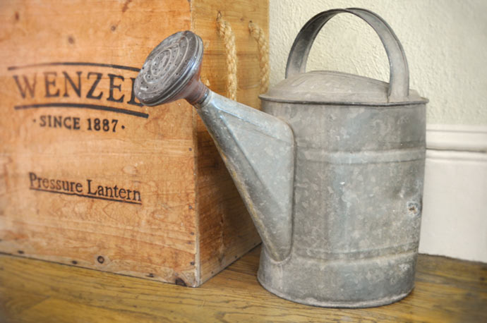 Wartering can and lantern box