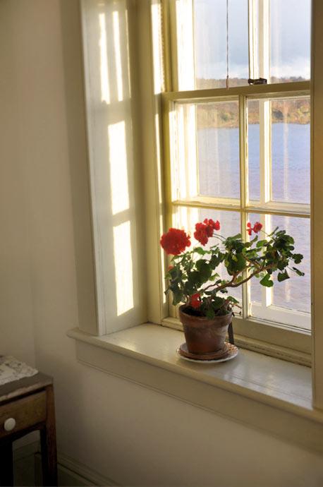 West Room window overlooking the Hudson River