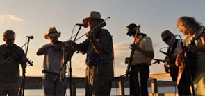 A sunset performance at the Lighthouse